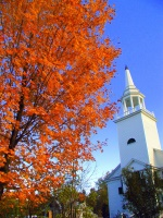2428   Church with foliage tree   Farmington Falls(C) Maine office of Tourism small