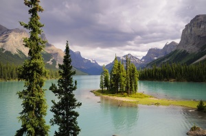 uitzicht op Spirit Island in Maligne Lake | Jasper National Park